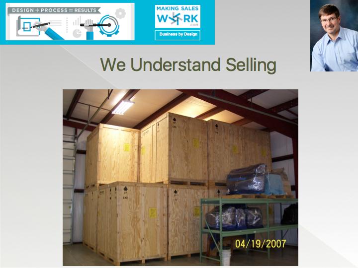 We understand selling