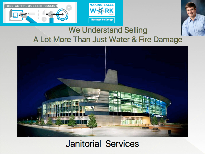 We understand selling - A lot more than just water and fire damage